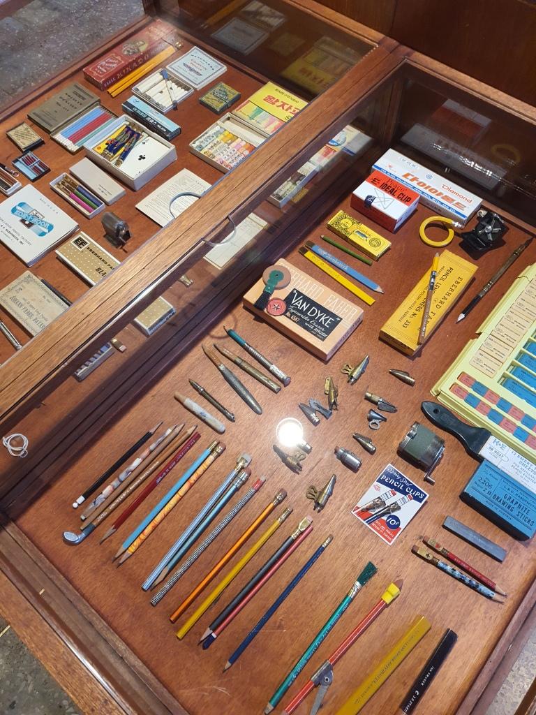 vintage pencil display