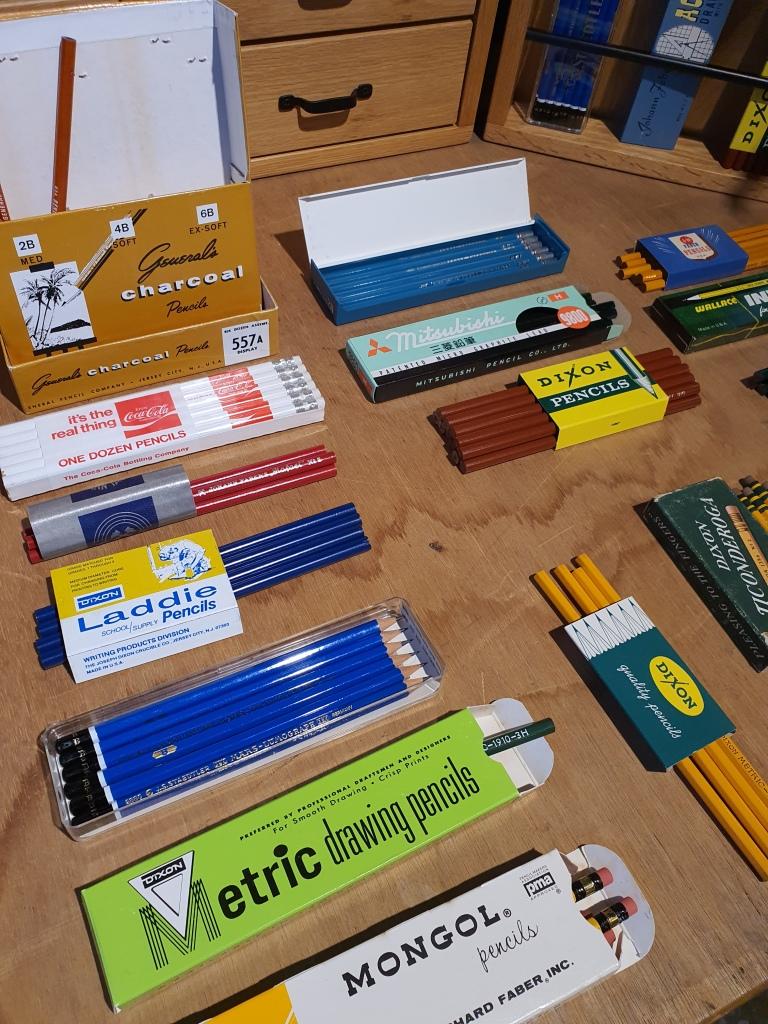 different vintage pencils