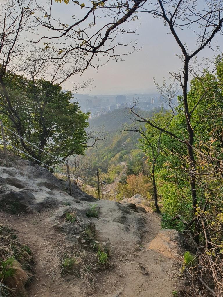 korea rocky trail mountain