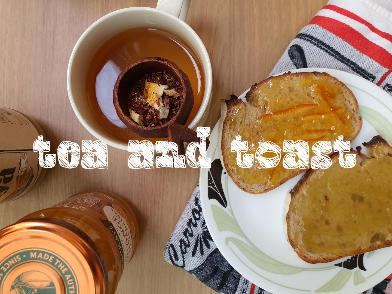 breakfast tea toast orange marmalade