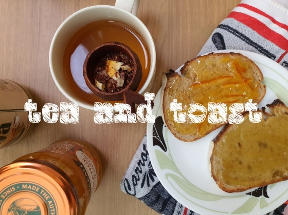 breakfast tea toast orange marmalade