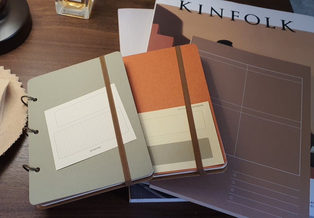 minimal design notebooks muted colors