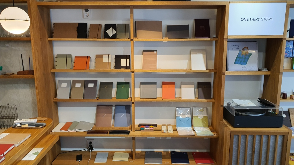 stationery notebooks display muted colors