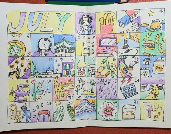 doodle calendar