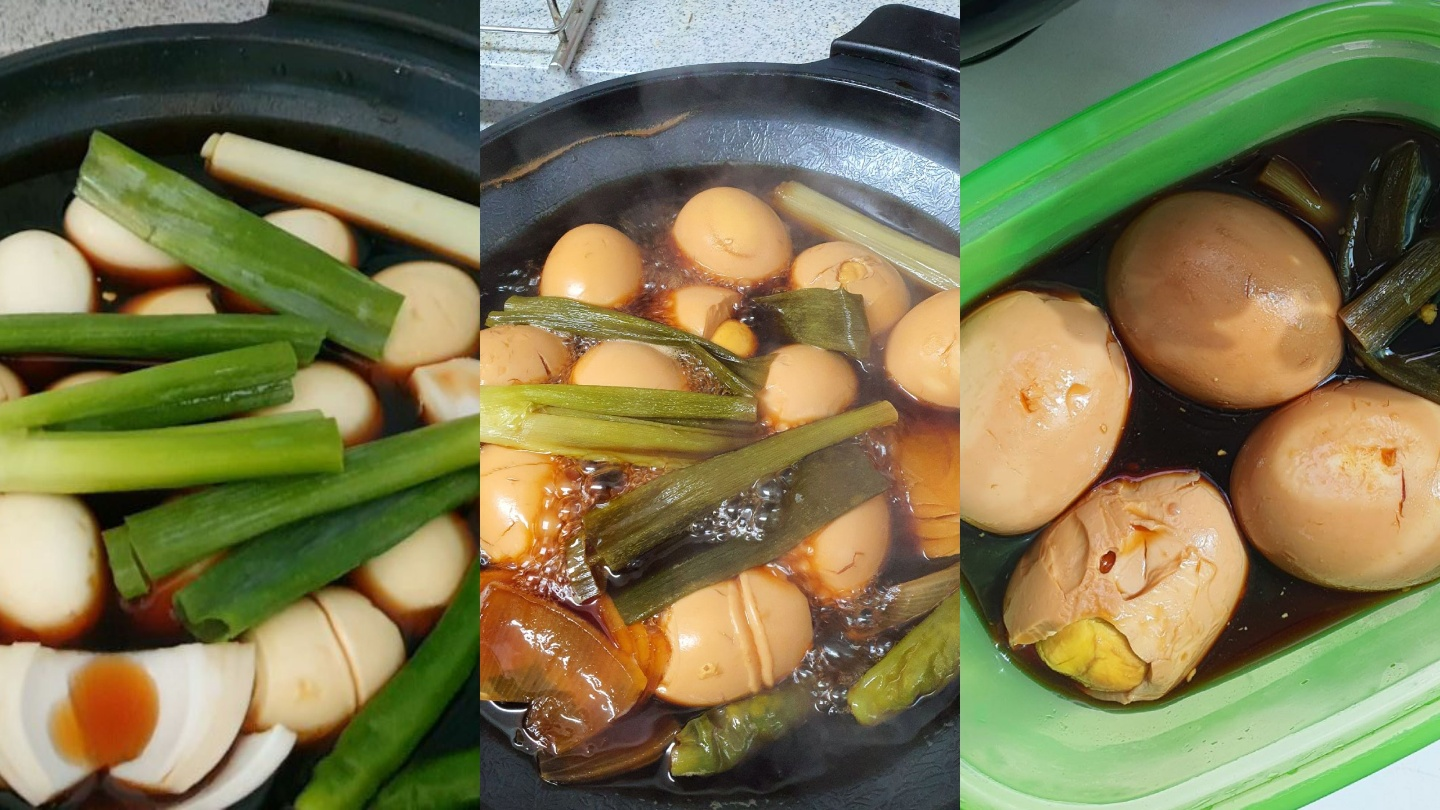 process korean braised soy sauce eggs
